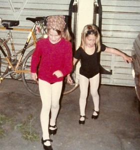 Dancing in the garage